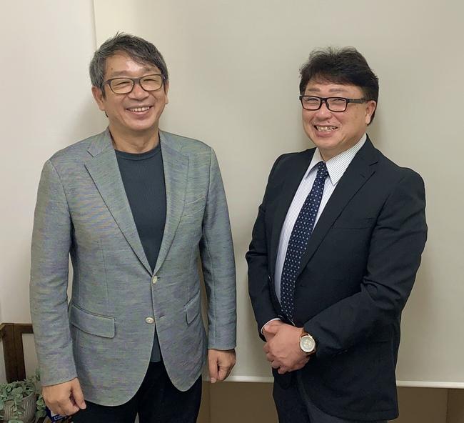 竹内代表と松浦雅也カウンセラー
